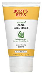 Burt's Bees Natural Acne Solutions Pore Refining Scrub, Exfoliating Face Wash for Oily Skin, 4 Ounce