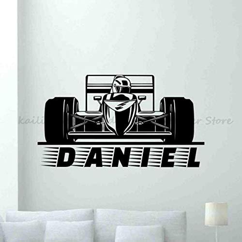 Formel 1 F1 4x4 Speed Racing Sport Vinyl Wandaufkleber benutzerdefinierten Namen Logo Racer DIY Aufkleber Teenager Zimmer Schlafzimmer Schlafzimmer Home Dekoration Kunst Wandbild Poster