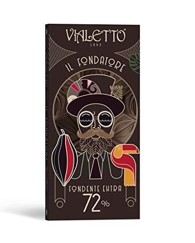 VIALETTO il Fondatore | Cioccolato Fondente Extra 72% | Tavoletta da 100 grammi