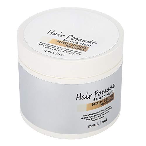 Estilismo para el cabello, cera de pomada para el cabello de alta arcilla fuerte para hombres de moda Crear un peinado brillante estilo retro 120ml