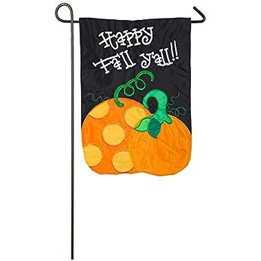 Evergreen Applique Happy Fall Y'all Garden Flag, 12.5 x 18 inches