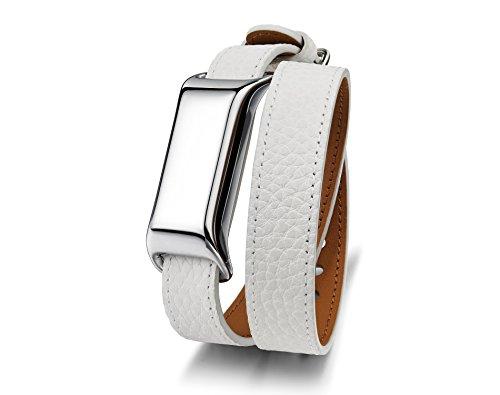 TCL Move Moveband 2 Smartwatch, Cromo Metallizzato/Bianco