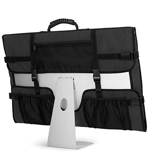 CURMIO Bolsa de viaje para ordenador de sobremesa Apple iMac de 27 pulgadas, funda protectora de almacenamiento para monitor con mango...