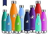 KollyKolla Bottiglia Acqua in Acciaio Inox, 750ml Senza BPA Borraccia Termica, Isolamento Sottovuoto a Doppia Parete, Borracce per Bambini, Scuola, Sport, All'aperto, Palestra, Yoga, Navy Blu