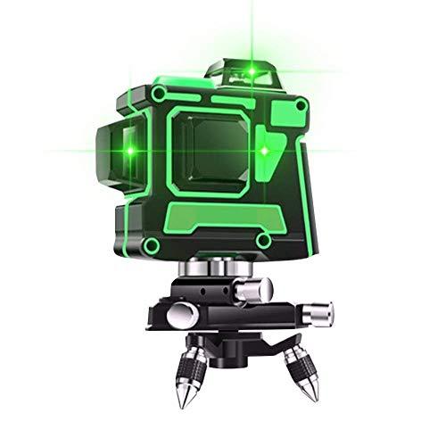 12 Linienlaser Selbst Leveling Grün Infrarot-Ebene Für Outdoor-Bau, Bild Hängend, 3D-360 Rotary Green Light Automatische Leitungs-Level-Laser-Rotationslaser Kit