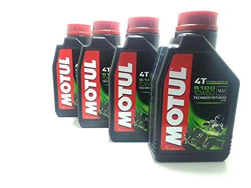 4 LITRI OLIO motore moto 4t MOTUL 5100 10W50 Technosynthese Sintetico 4LT NEW