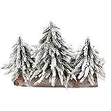 WJING Mini árbol de Navidad pequeño para escritorio, árbol de Navidad nevado para bricolaje, mesa de comedor, decoración de fiesta (color: tres estilos grandes)