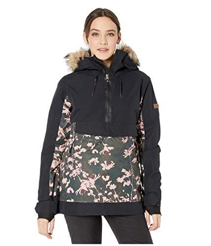 Roxy SNOW Women's Shelter Jacket, true black poppy, M