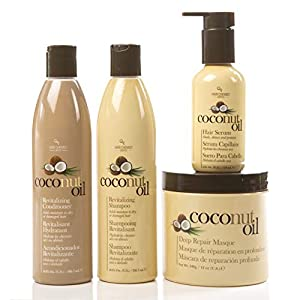 Beauty Shopping Coconut Oil Hair Care 4 Piece Set – Revitalize and Nourish Dry or Damaged Hair