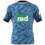 MRRTIME vêtements de Rugby Maillots de Rugby à Domicile Blues de la Saison 2020, Logo brodé de Haute qualité, pour Un Usage Quotidien et pour Jouer au Rugby-S