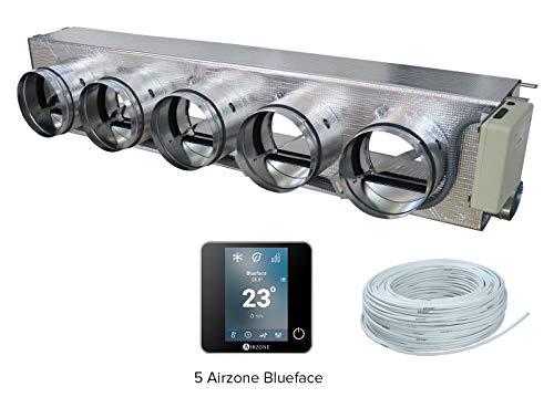 Airzone AM6DEN02M5CB Pack Easyzone 5 Zonas Cableadas Color Negro para Denco Happel FLEXGEKO-T7