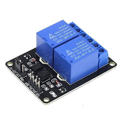 F-Mingnian-TOOL, 1 x DC 5 V, 1 x 2 4 8, ein Relais-Modul DC5 V, niedrig, SCM Elektrometersteuerung, für Arduino Raspberry Pi DIY Kit (Größe: 2 Channel)