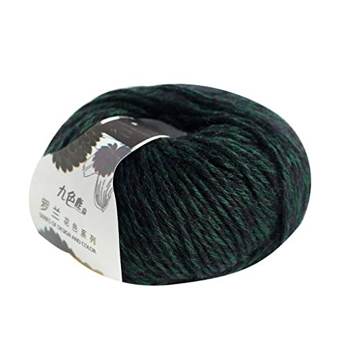 원사 공 ZLZ 순수 양모 레이스 스레드 배선 뜨개질 스레드 수제 DIY 뜨개질-1X50 그램 공(색상:G)