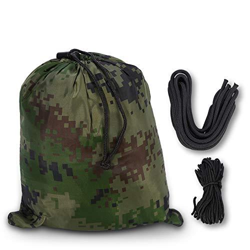 Outdoor dubbele parachutestof schommel mels muggennet 260 * 140 cm, dubbele persoon camping hangmat met muggennet voor outdoor tuin jungle camouflage