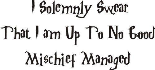 Harry Potter Malice pour enfant Sticker mural en vinyle citation Home DIY, Vinyle auto-adhésif, Rose clair, 90x40CM