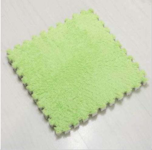 RSZHHL tapijt Tatami suède puzzel tapijt woonkamer slaapkamer mat kruipen pad kinderen vloerbedekking schuim tapijt puzzel 30 * 30 cm 8 kleuren mengen 30 cm 30 cm
