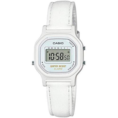 Casio Unisex Erwachsene Digital Uhr mit Leder Armband LA11WL/7A