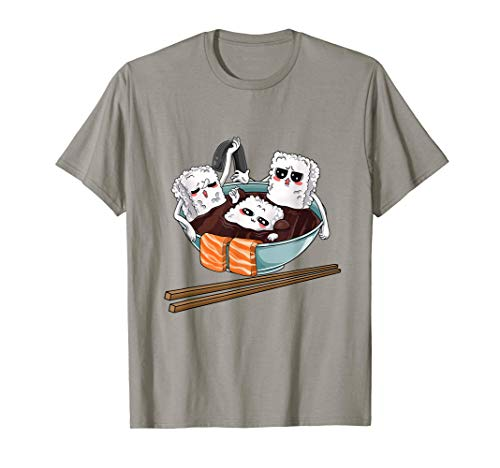 Sushi Im Whirlpool Reis Lachs Fisch Japan Kawaii T-Shirt