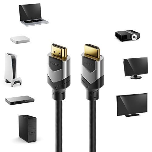 deleyCON 2m 8K UHD-II HDMI 2.1 Kabel 4320p 2160p 8K@60Hz 4K@120Hz 7680x4320p Dolby DTS HDR ARC CEC HDTV Ethernet