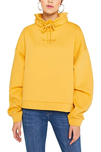 edc by ESPRIT Damen 109CC1J010 Sweatshirt, Gelb (Honey Yellow 710), Medium (Herstellergröße: M)