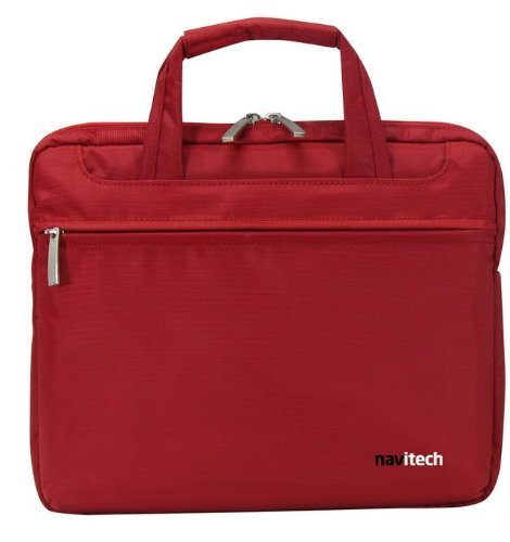 Navitech Red Sleek Premium Water Resistant Shock Absorbent 13.1 to 15.4 Laptop/Notebook Carry Bag Case Compatible with The Panasonic Toughbook CF-31JEGAX1M