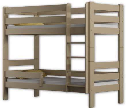 Zwei Holzetagenbettrahmen Schläfer 180x80cm,Vanilla