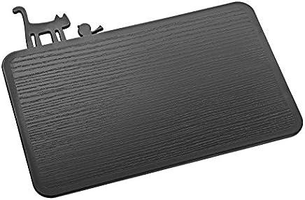 koziol [pi:p] Chopping Board (Cutting Board), Solid Cosmos Black