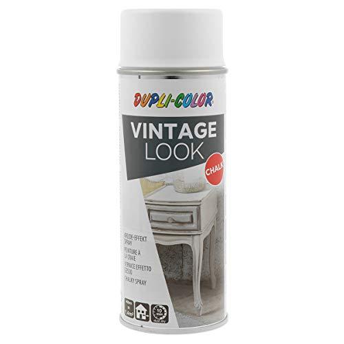 DUPLI-COLOR 466007 Vintage Look Taiga, 400 ml Kreideeffekt-Spray, weiß
