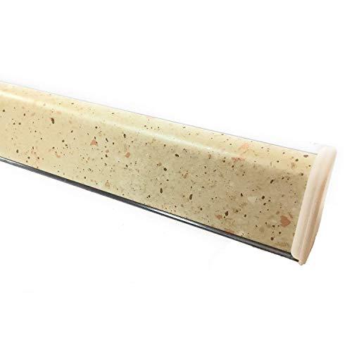 Alzatina per piani da cucina, spalletta per top, alzatina, finale per top con la seguente misura= 2 metri lineari compresa di finali, alzatina in colore avena