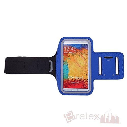 BRALEXX Sporttasche Armtasche Smartphonetasche passend für Jiayu S3 Advanced, Blau