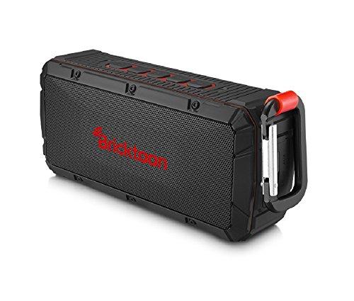 Bricktoon V3 Portable 4.0 Bluetooth 10W Wireless Speaker - FM Stereo - Enhance Bass - Micro SD Player – IPX6 Waterproof 12 hrs Playback - Outdoor/Indoor Durability - Hands Free Speakerphone Mic