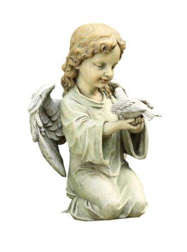 Napco Kneeling Angel with Dove Garden Statue, 12-Inch Tall -  18569