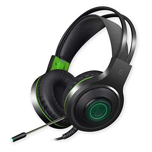 SZKQN Headset computerspel-headset, 7.1-kanaals stereogeluid geluid, microfoon met ruisonderdrukking, geschikt voor thuiskantoor, spelentertainment, outdoor-fitness, vrije tijd