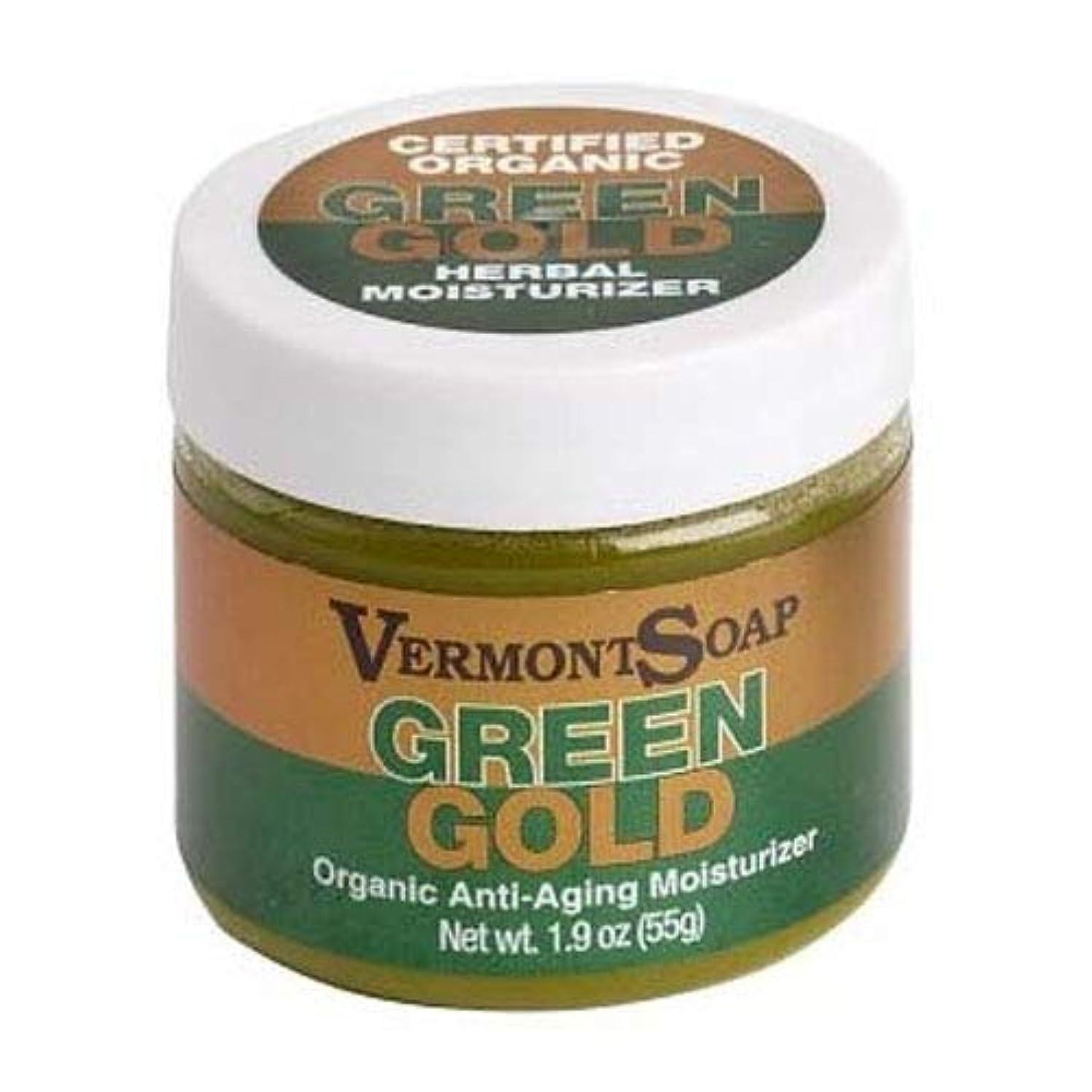 帳面住む哲学VermontSoap バーモントソープ グリーンゴールド ORGANIC MOISTURIZER GREEN GOLD (ほのかなラベンダー, (L) 55g)