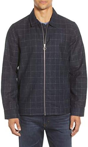 Men's Calibrate Trim Fit Wool Blend Shirt Jacket, Size Small - grey