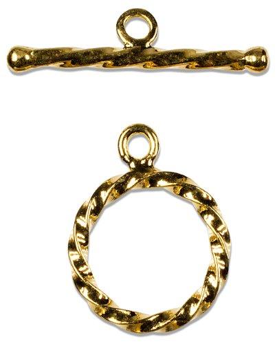 Cousin Gold Elegance Rope Toggle, 1-Set 14K Gold Plate (Toggle 1 Set)