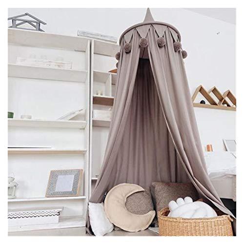 Mjukt myggnät Dome sängkläder flicka prinsessa myggnät baby säng canopy tält gardin rum dekor baby flicka pojke myggnät Bekväm och andas (Color : Grey)