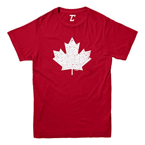 Canadian Maple Leaf - Canada Pride Youth T-Shirt (Red, Small)