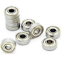 10 rodamientos de bolas radiales Protastic 606ZZZ6 x 17 x 6 mm sellados en miniatura