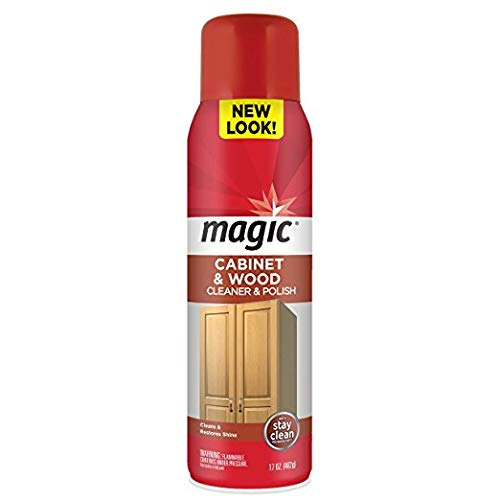 Magic Cabinet & Wood Cleaner & Polish 17Oz. Aerosol (Package May Vary) Pack Of 3