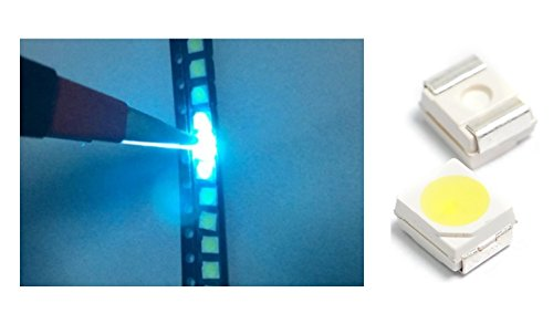 10 x LED SMD 3528 luz azul hielo alta luminosidad 6500 K 0,2 W diodos PLCC frío Ice Blue