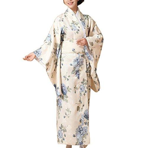 Fancy Pumpkin Kimono Yukata Cosplay Impreso Floral japonés Fiesta Ropa de Dormir, I
