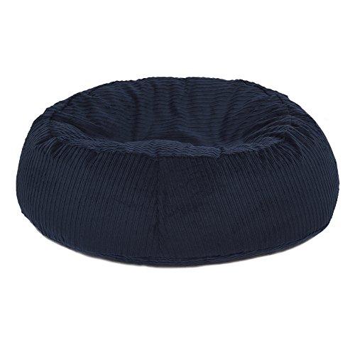 orthopädisches Katzenbett Katzenkissen STOCKHOLM oval rutschfest, creme weiß nachtblau Größe M (nacht blau)