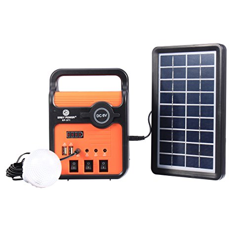 RanDal 25W Solar Power System Stromerzeuger mit Solar Panel Lampen mit Sock Usb Port