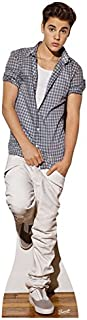 STAR CUTOUTS Cut Out of Justin Bieber Check Shirt