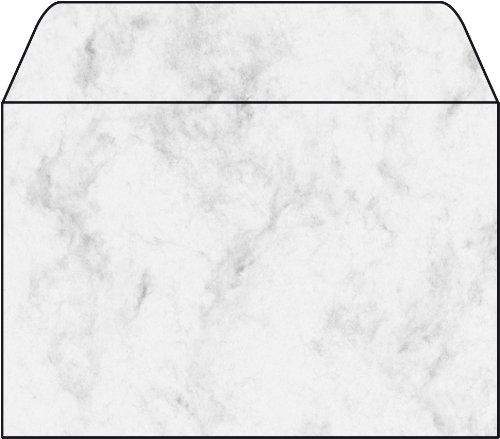 SIGEL DU009 Briefumschläge, Marmor grau, C6, 25 Stück, gummiert