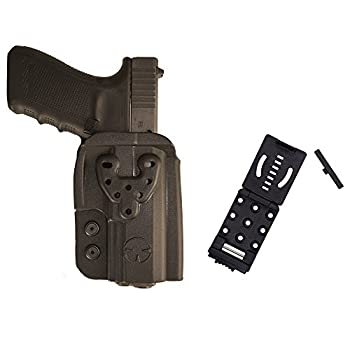 Ultimate Arms Gear OWB Kydex Modular Multi-Fit Holster with Push Button Belt Locking Mount Black Compatible with Kimber 1911 Mil-Spec Colt Remington Springfield Pistols