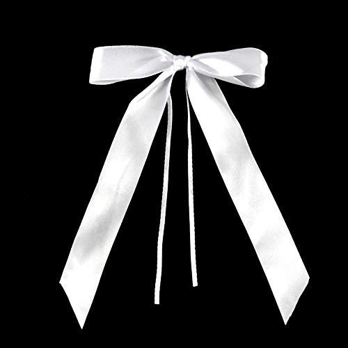 VGOODALL Autoschleifen Hochzeit, 100 STK. Weiß Antennenschleifen Handgemacht Satinband Hochzeitsschleifen für Auto Hochzeit Feste Dekoration