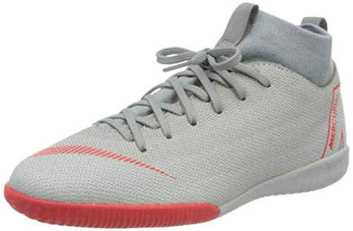 Nike Unisex-Kinder Mercurial SuperflyX VI Academy Indoor Fitnessschuhe, Mehrfarbig (Wolf Grey/Lt Crimson/Pure Platinum 060), 36 EU