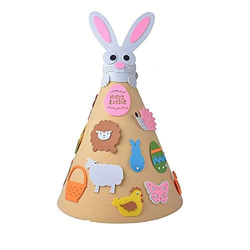 Haude Juego de conejo de Pascua para niños con accesorios 3D conejo árbol de Pascua regalo de Pascua para niños puerta de casa pared